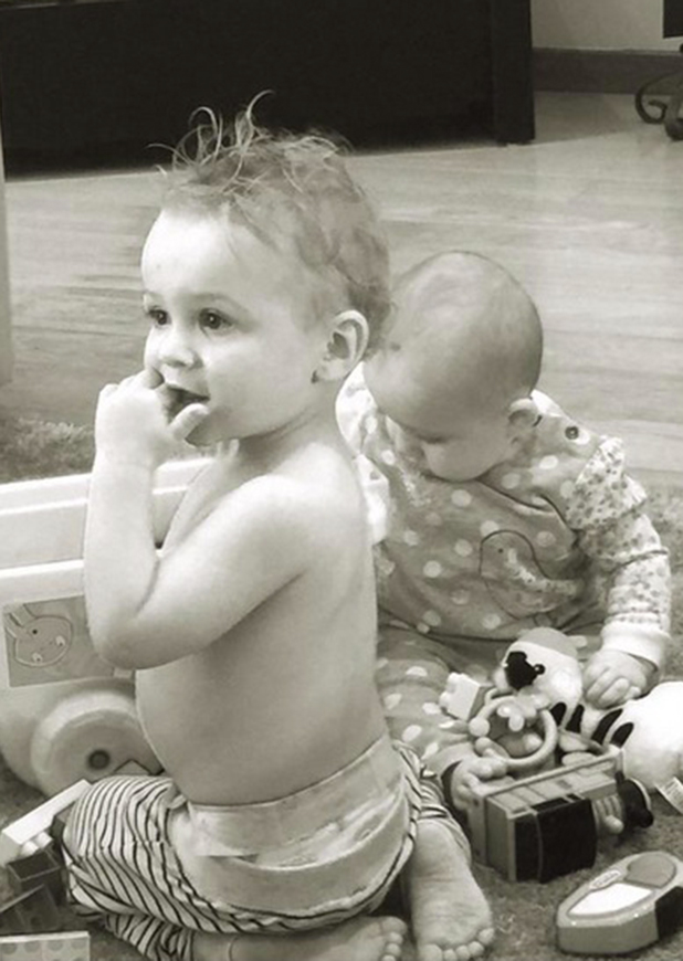 Katie Price shares holiday pictures: Bunny and Jett playing, 6 April 2015