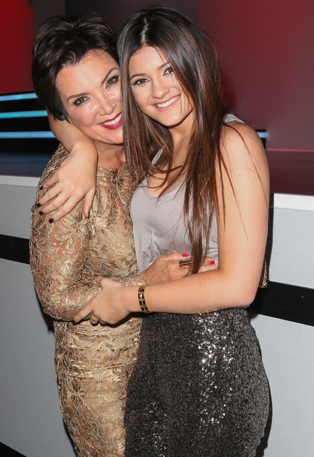 Kris Jenner (L) and Kylie Jenner (R) attend Fashion's Night Out 2012 at the Beverly Center at The Beverly Center on September 6, 2012 in Los Angeles, California.