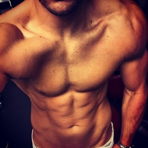 Mark Wright poses shirtless on Instagram, 17 April 17 Aprl