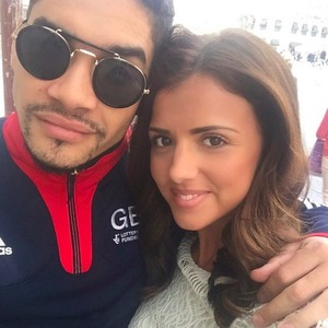 Lucy Mecklenburgh and boyfriend Louis Smith in Montpellier for the Euros 2015, 17 April 2015