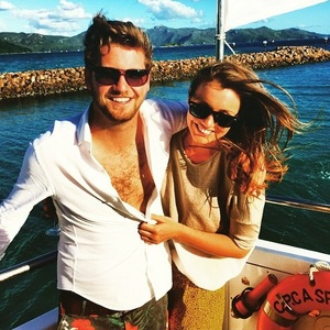 Stevie Johnson and Cressida Stewart on holiday on Hayman Island, Instagram 15 April