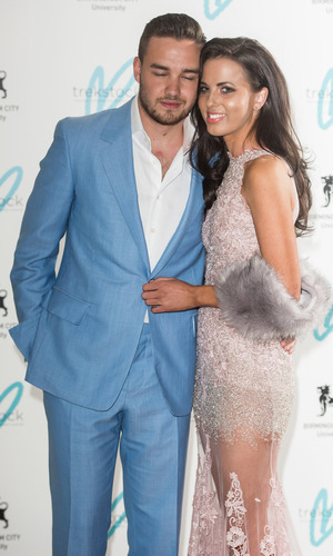 Liam Payne and girlfriend Sophia Smith at the Charity Great Gatsby Ball held at Bloomsbury Ballrooms - 16/4/2015.