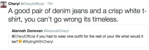 Cheryl Cole answers style queries