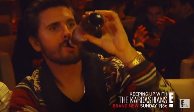 Scott Disick in Keeping Up With The Kardashians trailer, E!