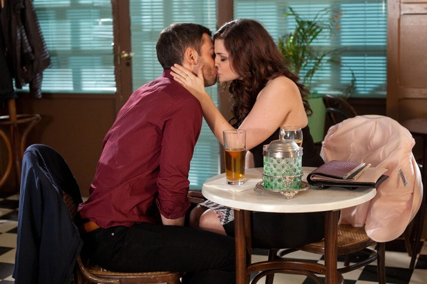 Hollyoaks, Cameron kisses Celine, Wed 15 Apr