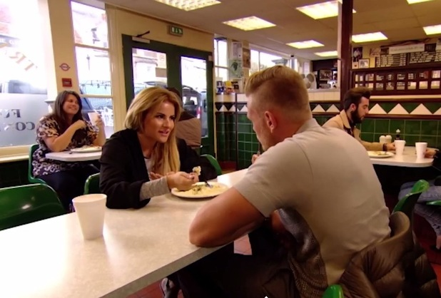 Georgia Kousoulou and Tommy Mallet enjoy a first date at Pie and Mash