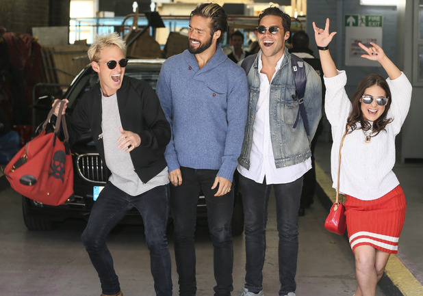 Made In Chelsea stars at the ITV studios, London, Britain - 14 Apr 2015.