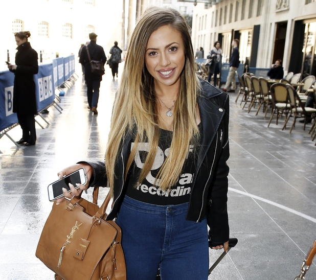 Holly Hagan outside Radio 1, BBC Studios, London 31 March