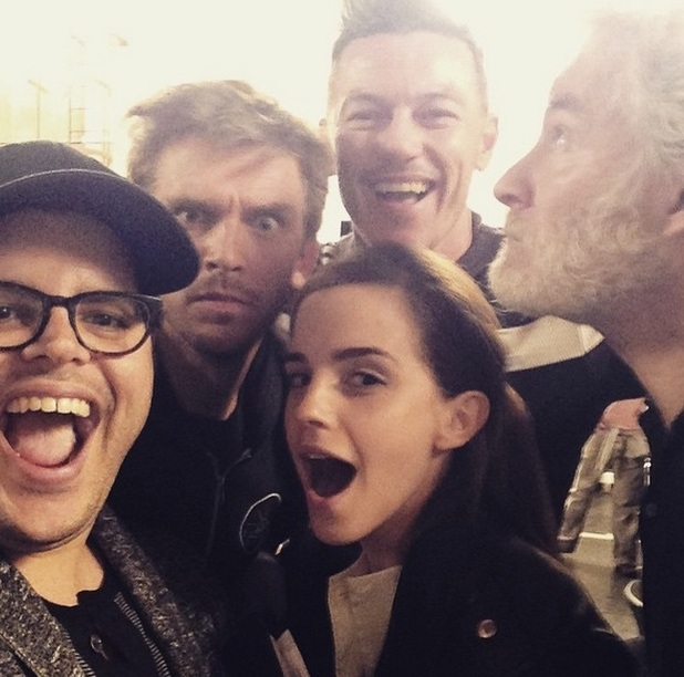 Emma Watson, Dan Stevens and Luke Evans join co-stars on set of Beauty and the Beast live action movie