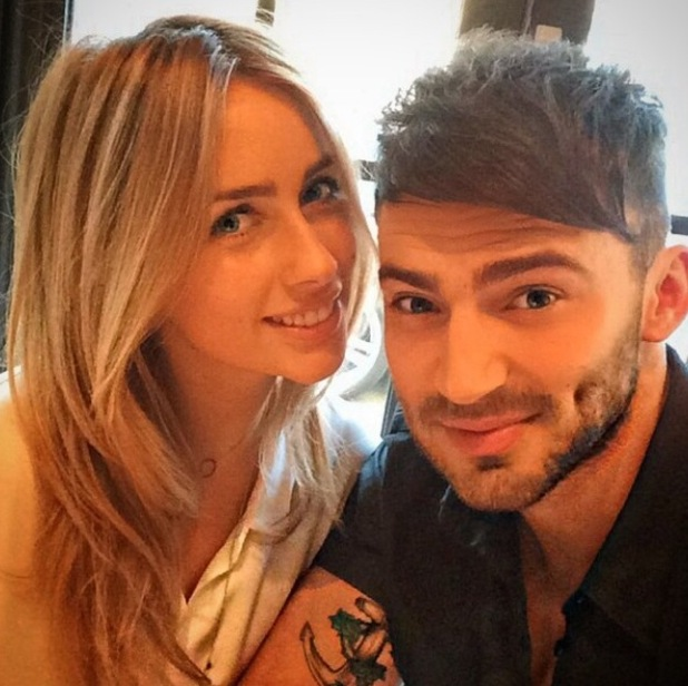 Jake Quickenden and Danielle Fogarty enjoy a romantic dinner together - 14 April 2015.