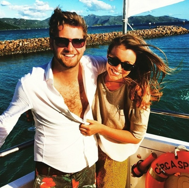 Stevie Johnson and Cressida Stewart on holiday on Hayman Island, Instagram 15 April