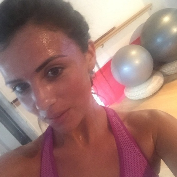 Lucy Mecklenburgh takes post-workout selfie, Instagram 15 April