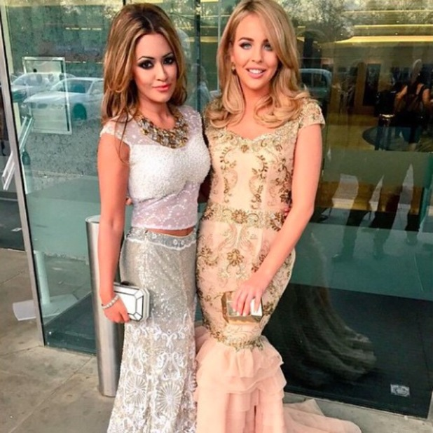 TOWIE's Lydia Bright attends The Asian Awards with friend Tasmin Lucia, 17 April 2015