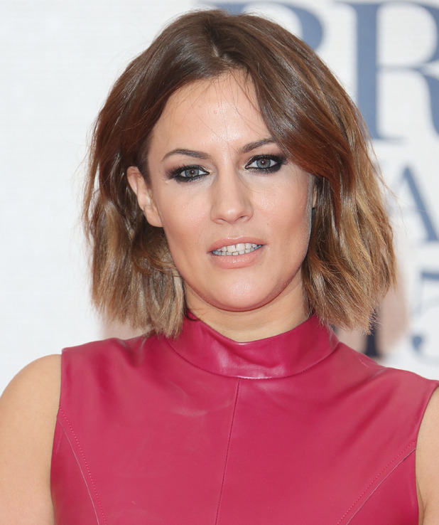 Caroline Flack at The Brit Awards 2015 (Brits) held at the O2 - Arrivals - 25 February 2015.