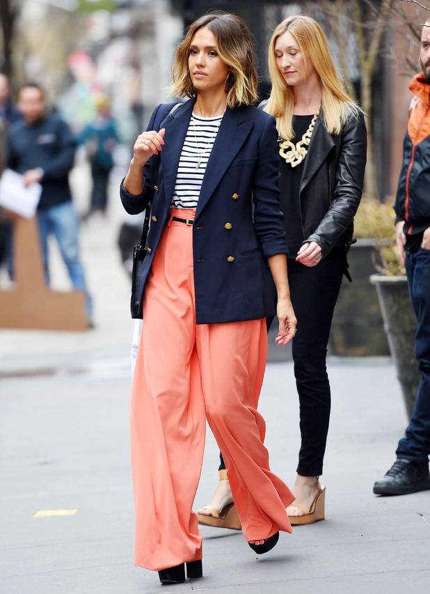 Jessica Alba out in New York April 14th