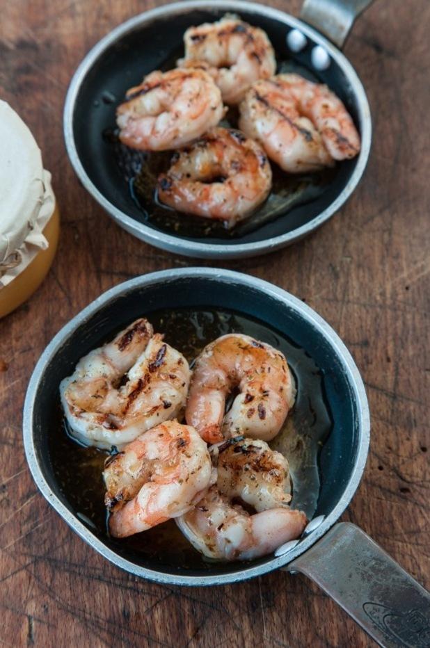 tonia buxton's Ancient greek style honey glazed prawns