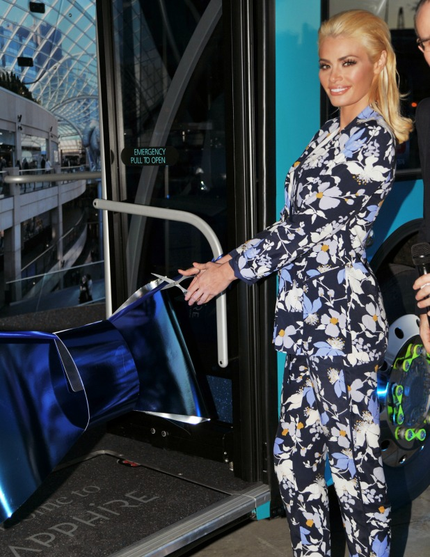 Chloe Sims launches the new Arriva buses Sapphire Range in Leeds, April 2015