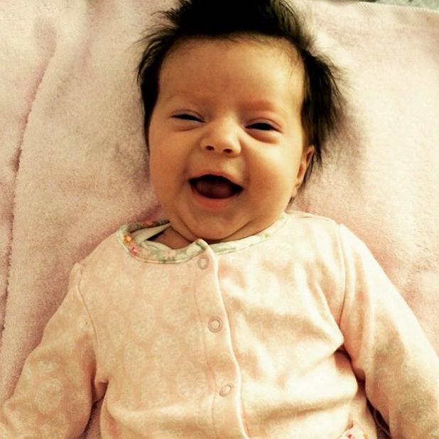 Dan Osborne shares photo of baby Ella Selina, 12 April 2015
