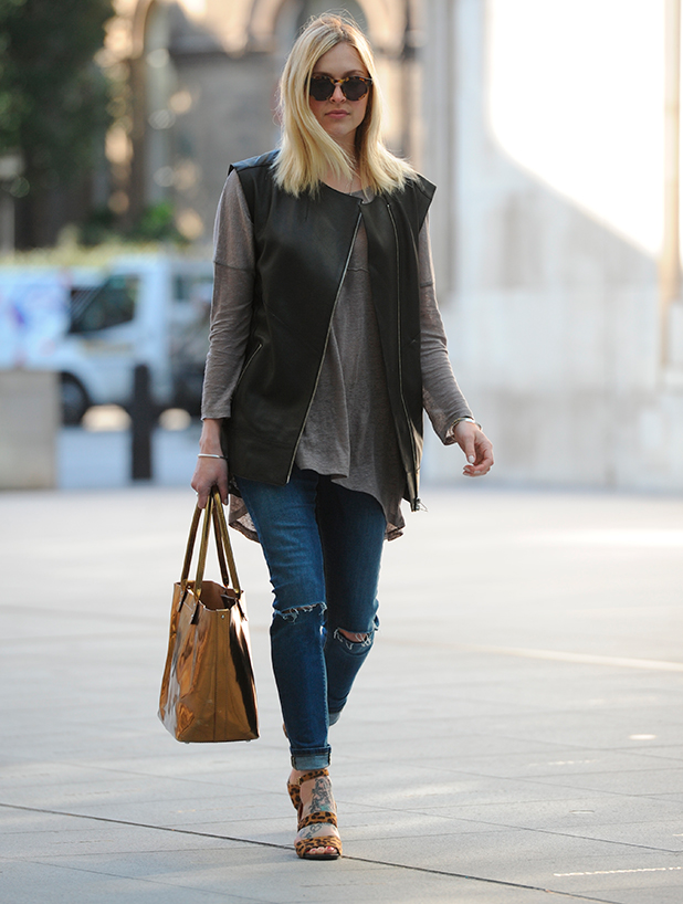 Fearne Cotton arriving at the BBC Radio 1 studios, 14 April 2015
