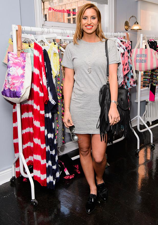 South Beach fashion launch, London, Britain - 15 Apr 2015 Ferne McCann