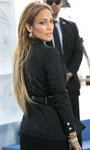Jennifer Lopez at the 2015 MTV Movie Awards at Nokia Theatre L.A. Live - Red Carpet Arrivals, 12 April 2015