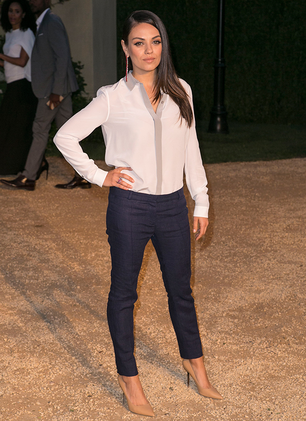 Mila Kunis attends the Burberry 'London in Los Angeles' event at Griffith Observatory, 16 April 2015