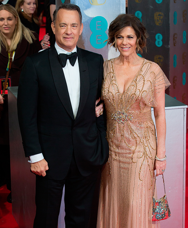 Rita Wilson and Tom Hanks, EE British Academy Film Awards held at the Royal Opera House, Covent Garden, London, February 2015