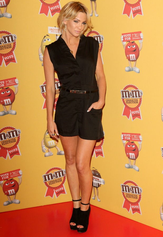 Sarah Harding, M&M characters election launch party held at M&M Leicester Square, 14 April 2015