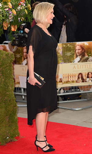Suzanne Shaw attends the UK premiere of 'A Little Chaos' at Odeon Kensington on April 13, 2015 in London, England.