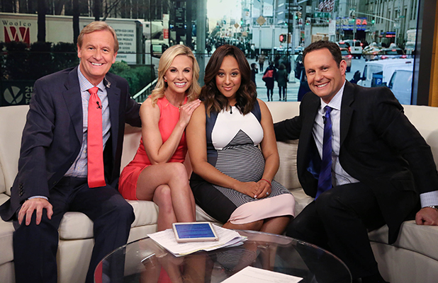 Tamera Mowry visits 'FOX & Friends' at FOX Studios on April 16, 2015 in New York City. (