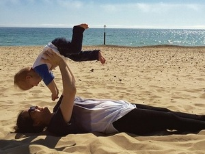 Baby Buzz is McFly'in at the beach! Dad Tom Fletcher posts beach snap