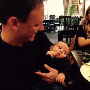 Catherine Tyldesley shares new photo of her baby son Alfie with her Corrie co-star Antony Cotton - 17 April 2015.