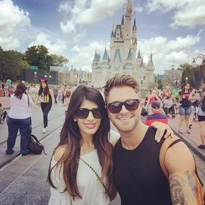 Jasmin Walia and Ross Worswick, Disney World, Florida 20 April