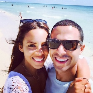 Rochelle Humes shares instagram snap with Marvin in Miami 18th April 2015