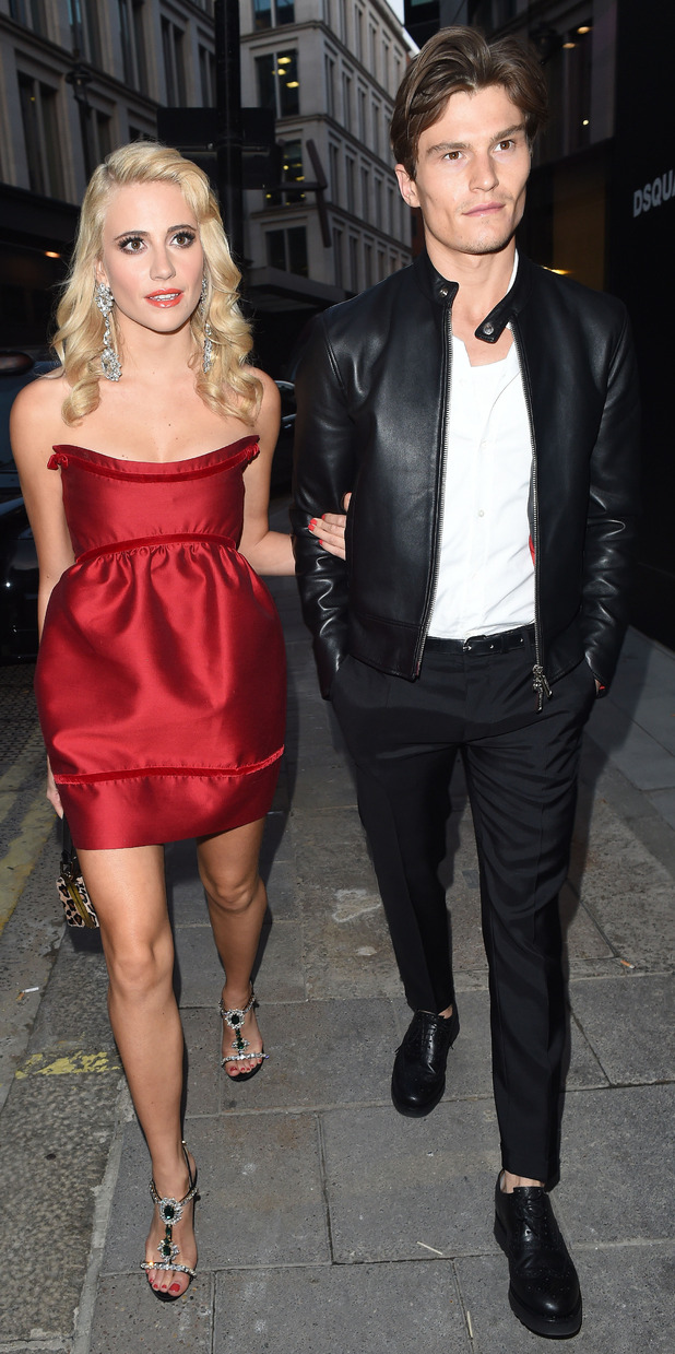 Pixie Lott and Oliver Cheshire DSQUARED2 celebrates London flagship opening - Private Dinner at Loulou's