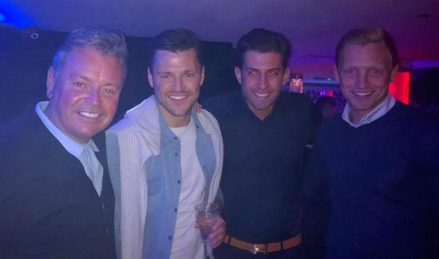 TOWIE's Arg celebrates best friend Mark Wright's stag do in Essex- 18 April 2015.
