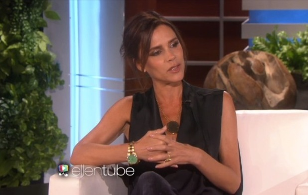 Victoria Beckham on The Ellen DeGeneres Show, LA 23 April