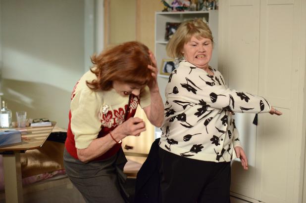 EastEnders, Babe slaps Sylvie, Fri 24 Apr