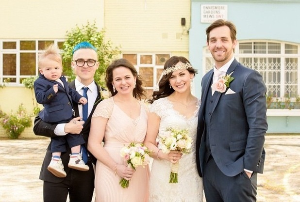 Giovanna Fletcher shares wedding photo on Instagram 20th April 2015
