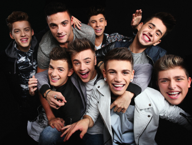 X Factor boyband Stereo Kicks announce debut single - 20 April 2015.