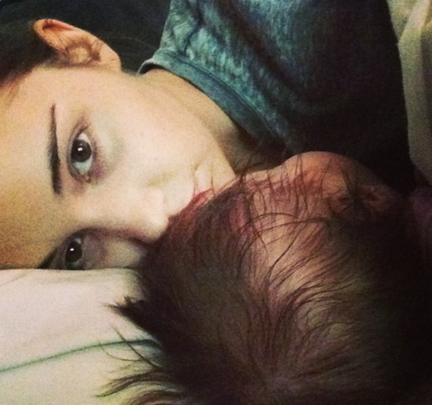 Jacqueline Jossa and baby Ella