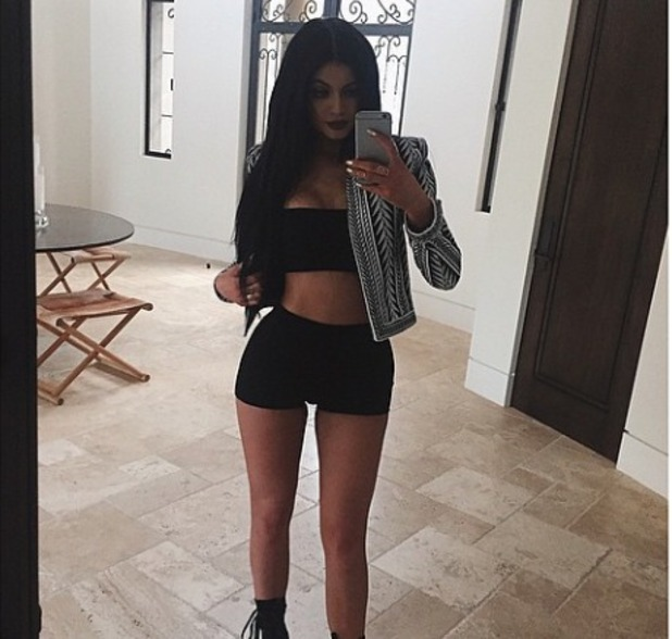 Kylie Jenner's head-to-toe Balmain selfie, 24 April 2015