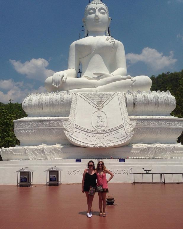 White Buddha on the Hill, (Wat Phra That Mae Yen), 25/4/15