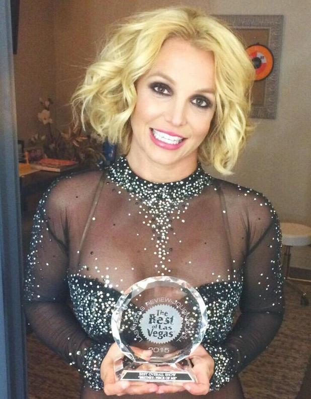 Britney Spears chuffed after winning awards for Las Vegas ... Britney Spears Las Vegas