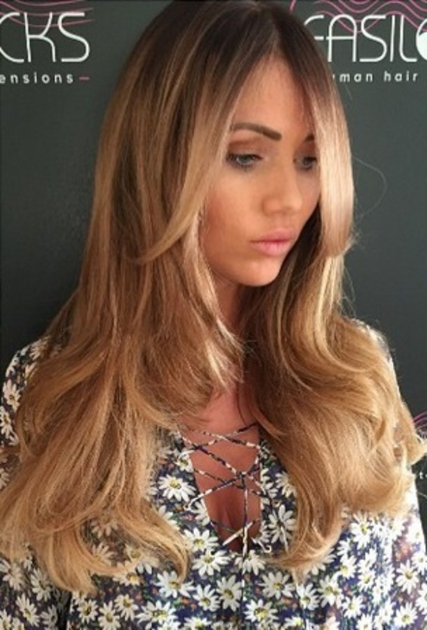 Amy Childs shows off new blonde hair on Instagram 20th April 2015