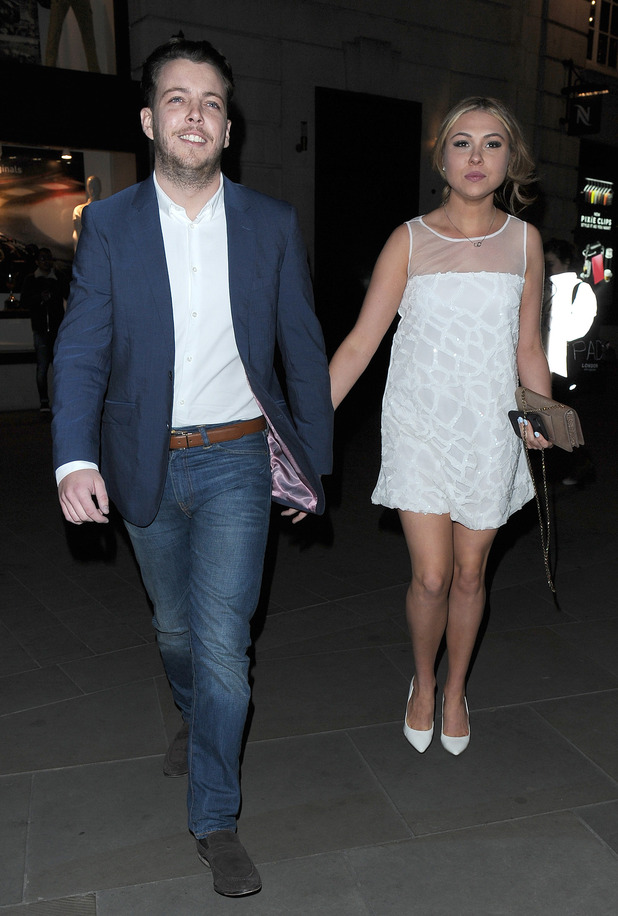James Bennewith and Fran Parman at The Only Way Is Essex wrap party, held at Blanca Bar in Soho - 22 April 2015.