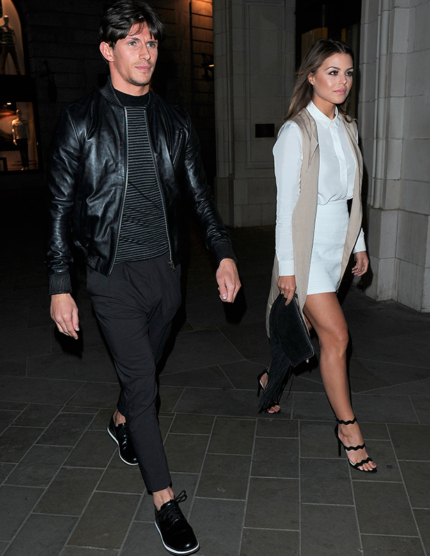 Chloe Lewis and Jake Hall, The Only Way Is Essex wrap party, held at Blanca Bar in Soho, 22 April 2015