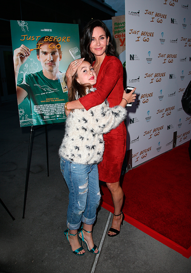 Courteney Cox and daughter Coco, 'Just Before I Go' at ArcLight Hollywood - Arrivals 20 April 2015