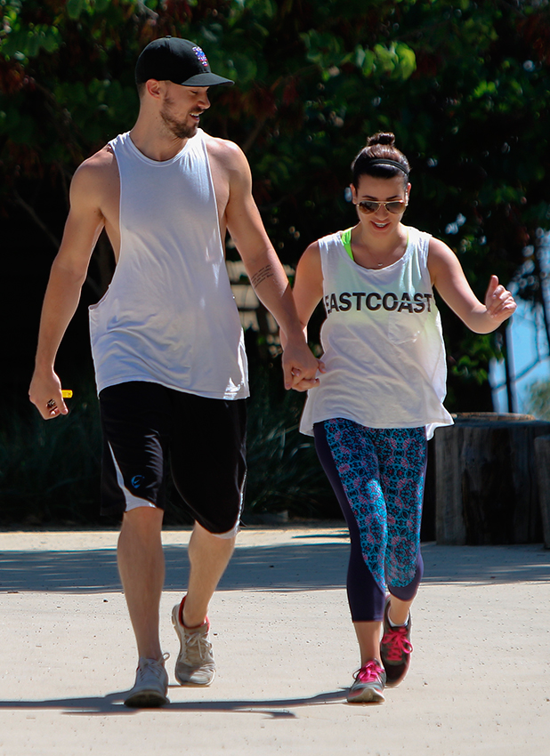 Lea Michele and boyfriend Matthew Paetz go for a hike in Los Angeles, 18 April 2015