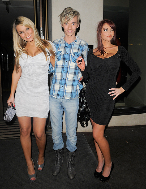 The Only Way Is Essex' stars Sam Faiers, Harry Derbidge and Amy Childs leaving Funky Buddha nightclub, London, England - 18.11.10